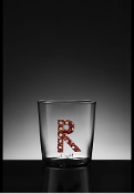 Wicker cane letter glass