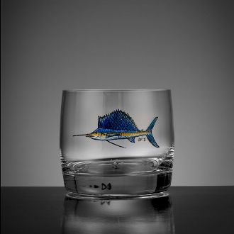 Sailfish whiskey glass