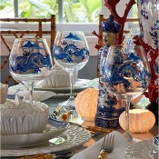 Dragon chinoiserie glasses